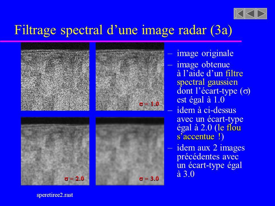Filtrage spectral d'une image radar (3a)