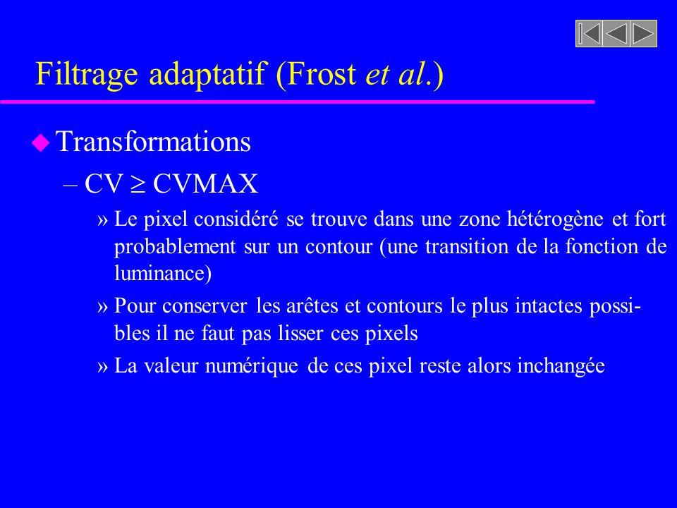 Filtrage adaptatif (Frost et al.)