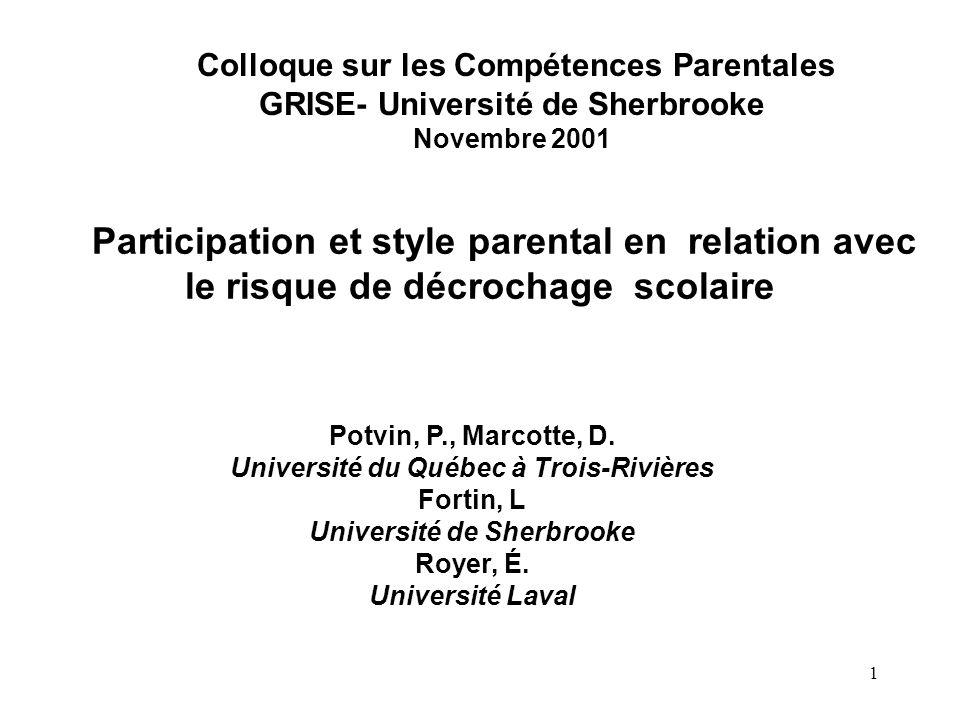 Colloque sur les Compétences Parentales
