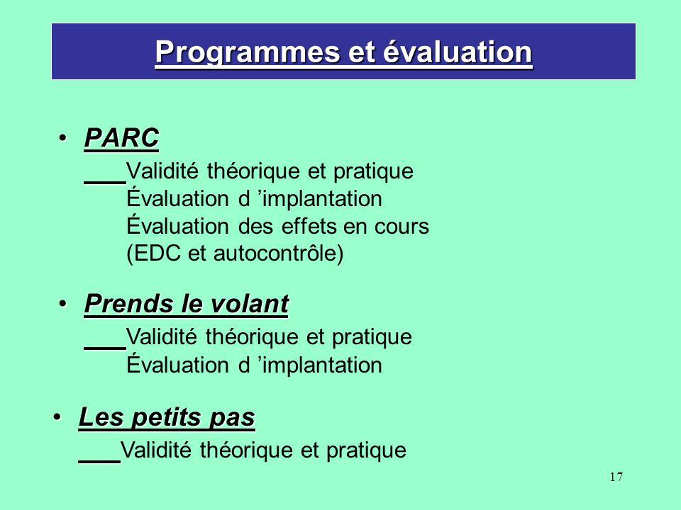 Programmes et évaluation