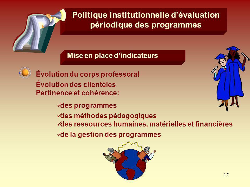 Politique institutionnelle d'évaluation périodique des programmes