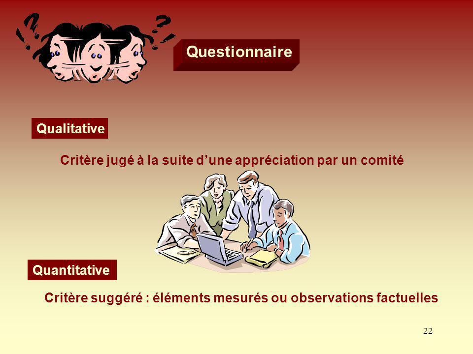 Questionnaire Qualitative