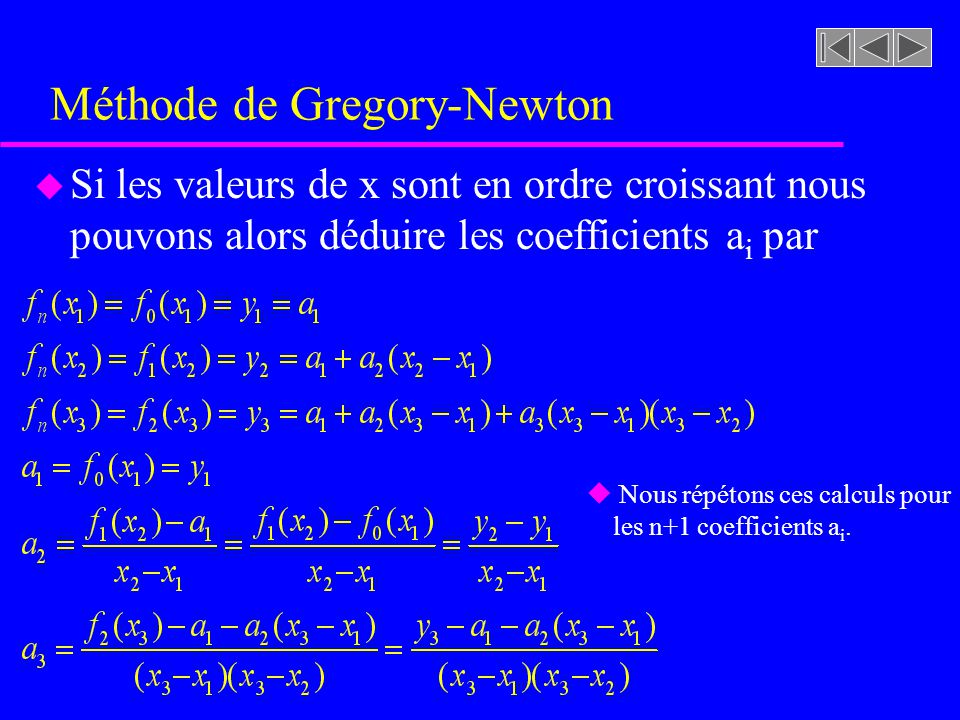 Méthode de Gregory-Newton