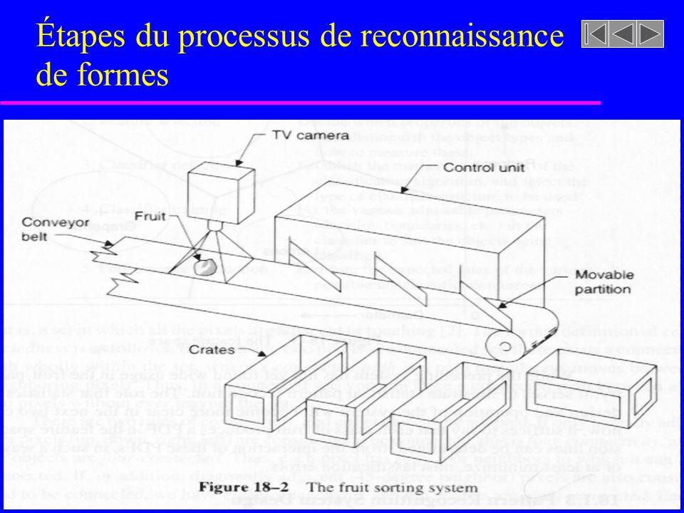 Étapes du processus de reconnaissance de formes