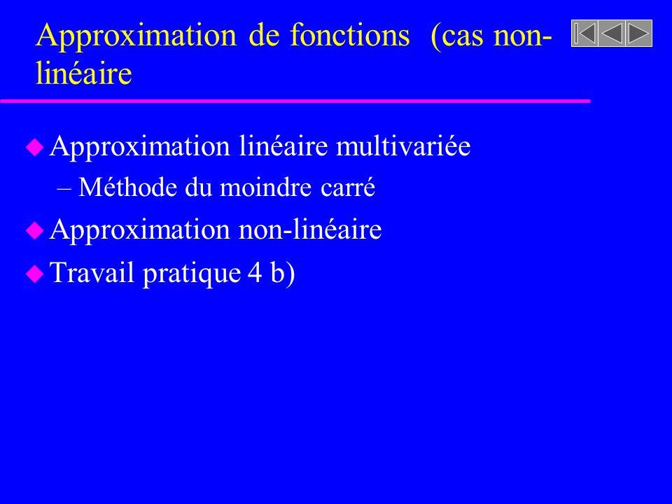 Approximation de fonctions (cas non-linéaire