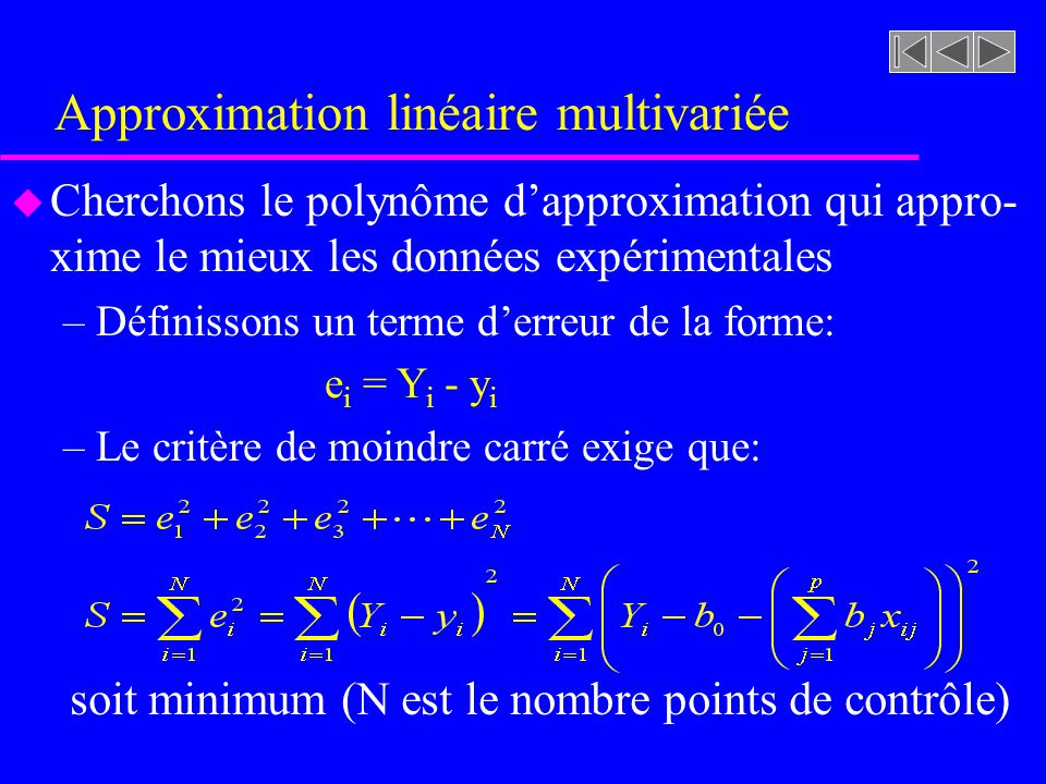 Approximation linéaire multivariée