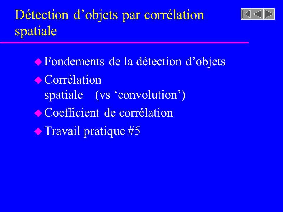 Détection d'objets par corrélation spatiale