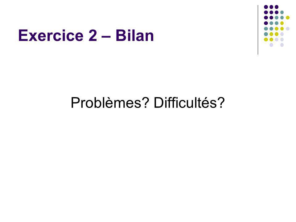 Problèmes Difficultés