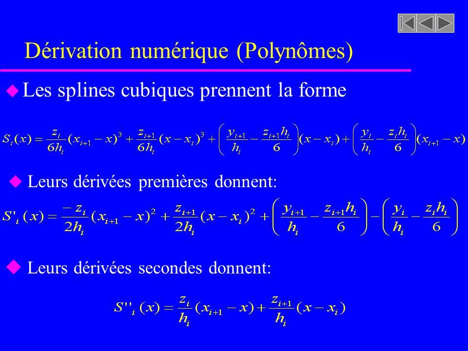 Dérivation numérique (Polynômes)