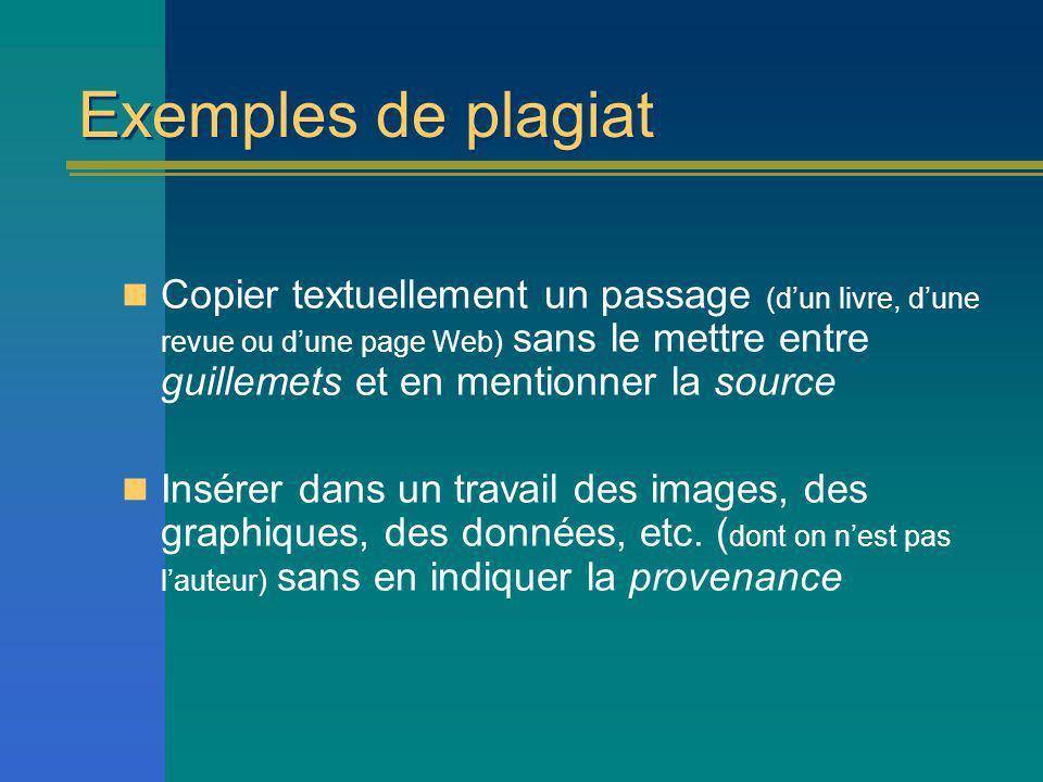 Exemples de plagiat
