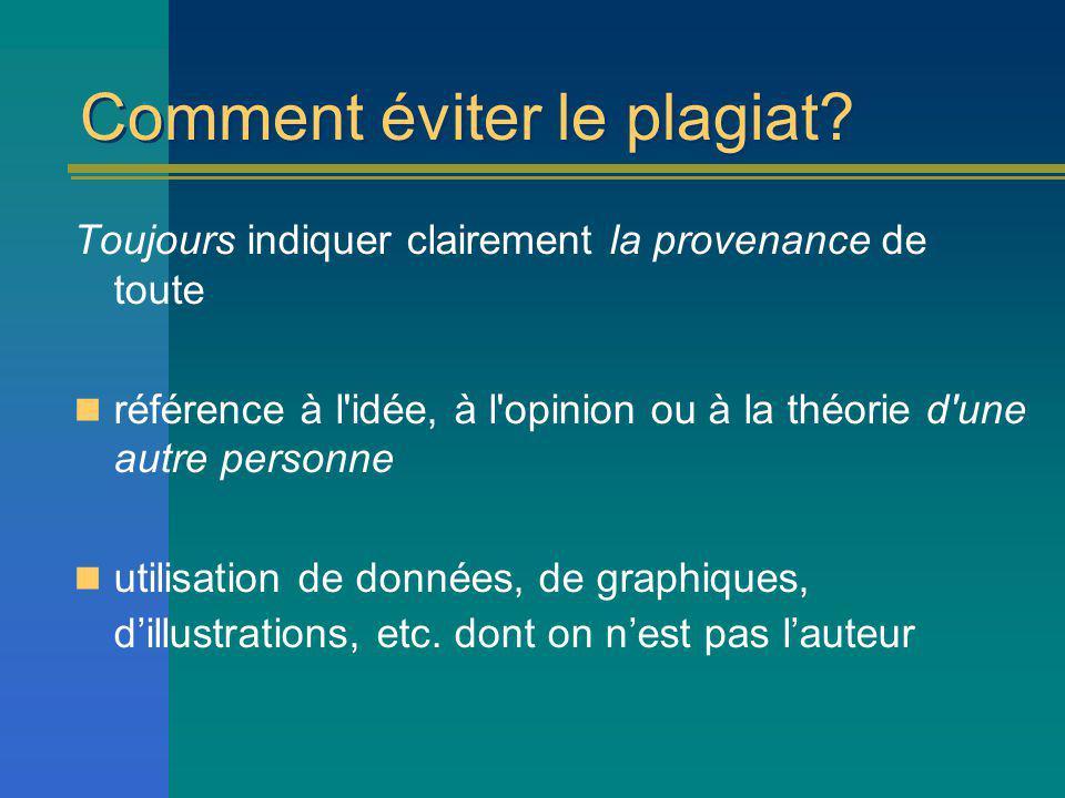 Comment éviter le plagiat