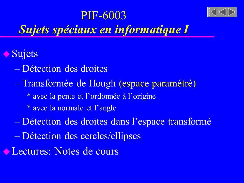 PIF-6003 Sujets spéciaux en informatique I