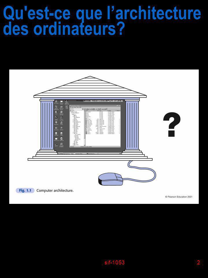 Qu est-ce que l'architecture des ordinateurs