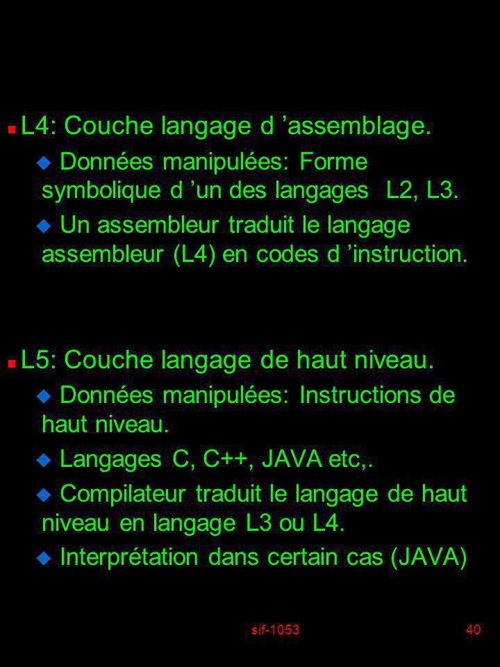 L4: Couche langage d 'assemblage.