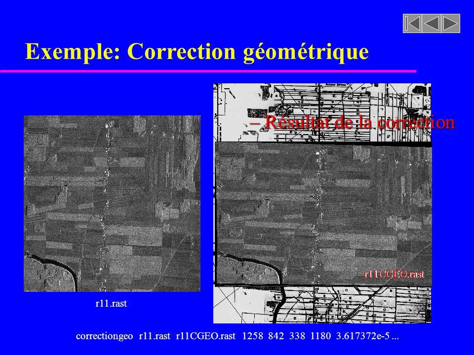 Exemple: Correction géométrique