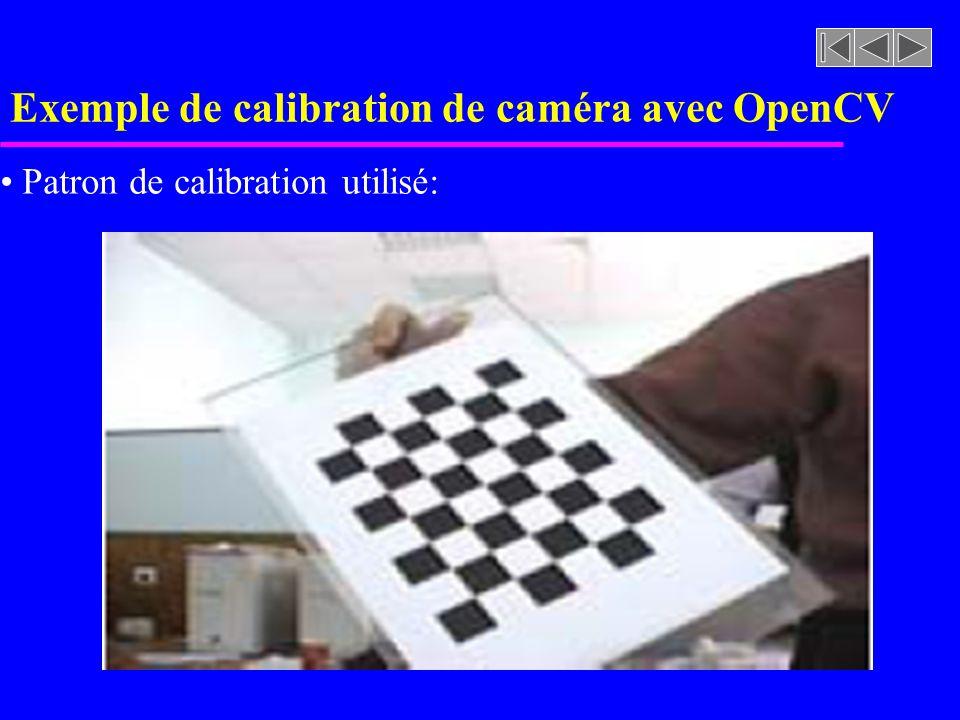 Exemple de calibration de caméra avec OpenCV