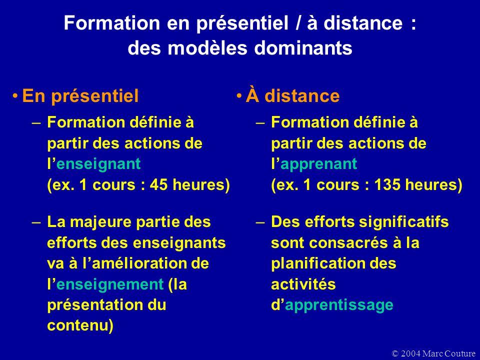 Formation en présentiel / à distance : des modèles dominants