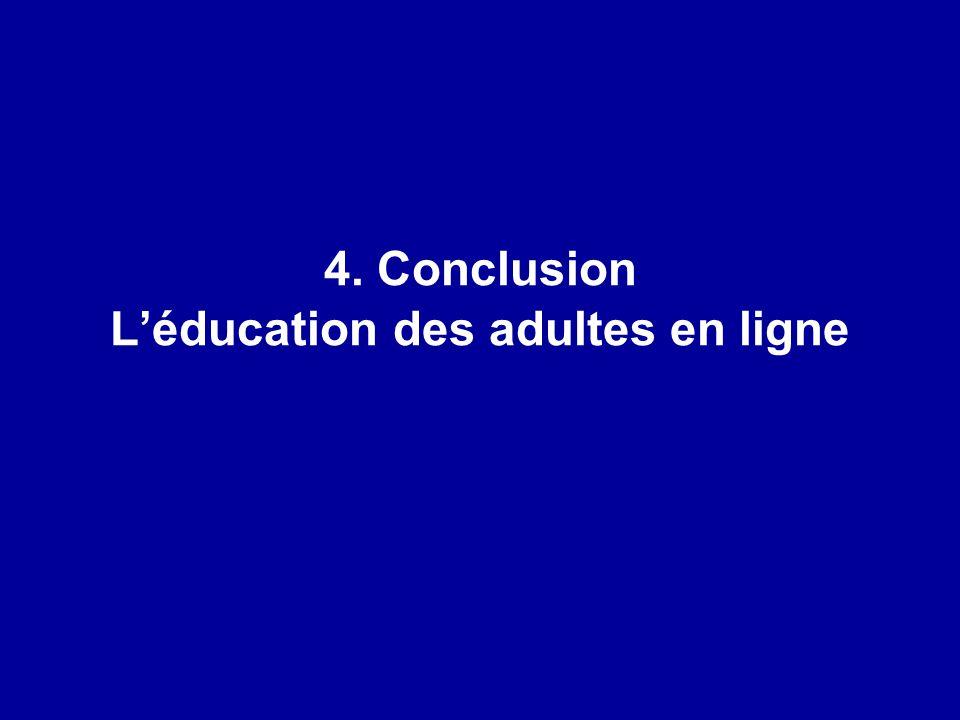 4. Conclusion L'éducation des adultes en ligne