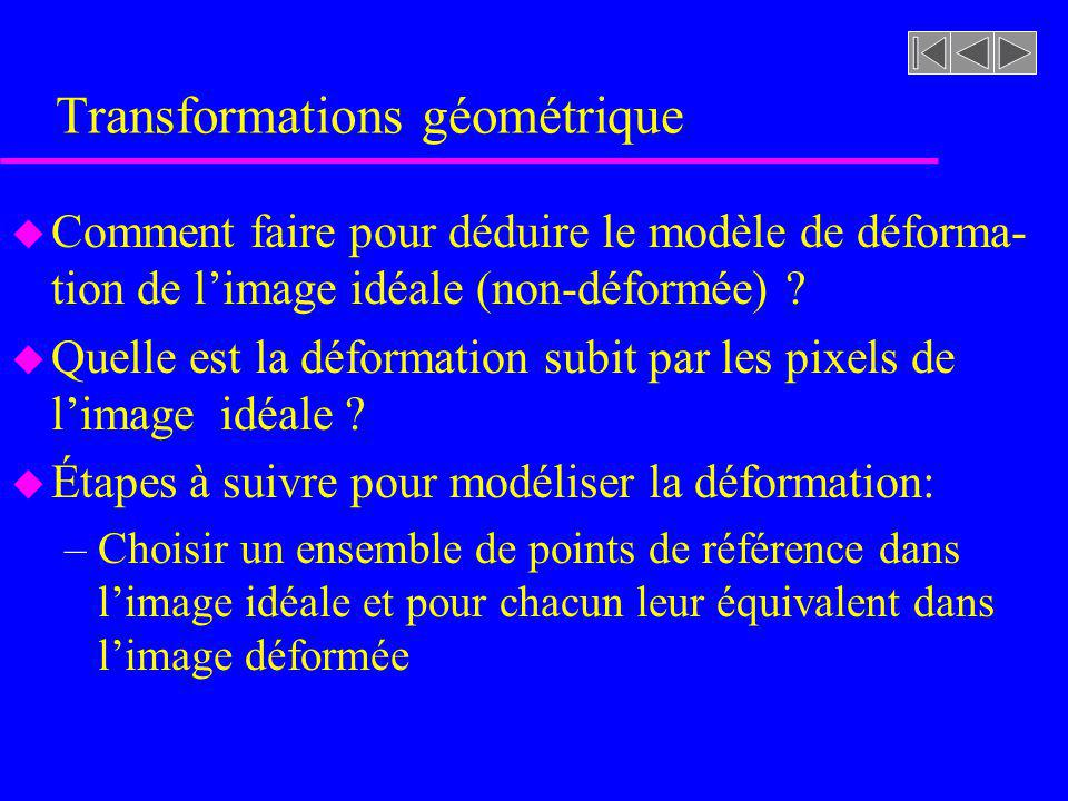 Transformations géométrique