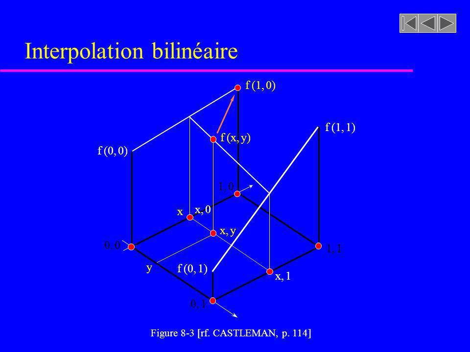 Interpolation bilinéaire