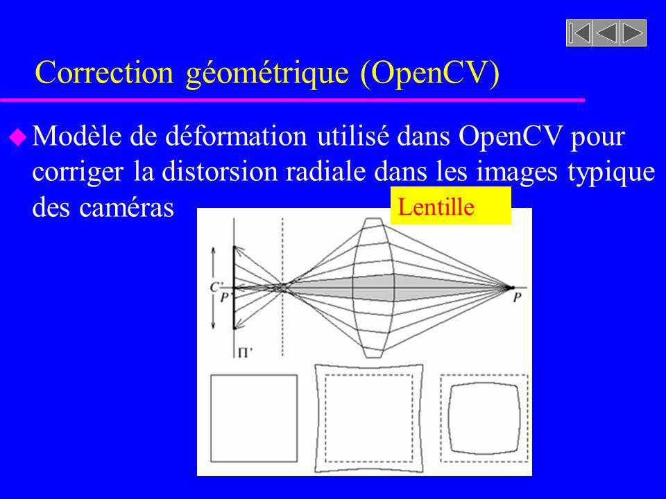 Correction géométrique (OpenCV)