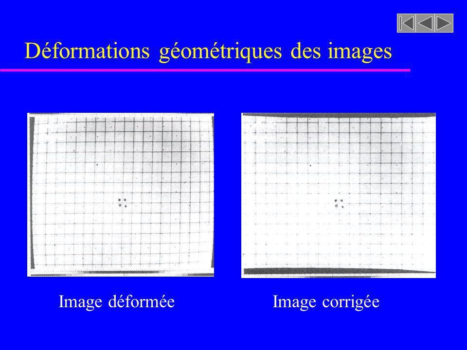 Déformations géométriques des images