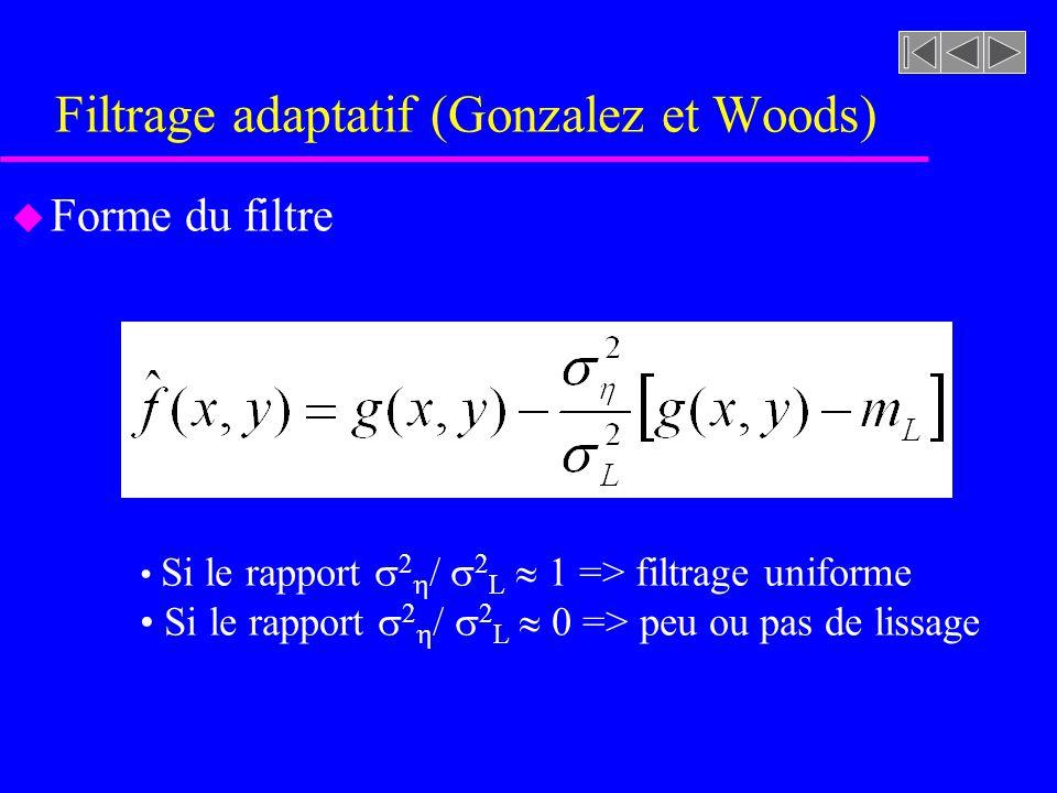 Filtrage adaptatif (Gonzalez et Woods)