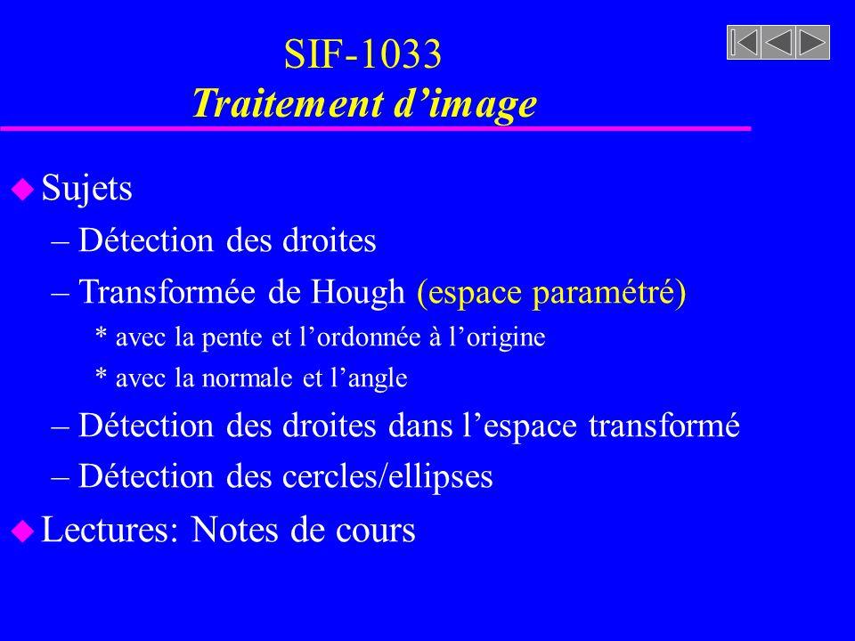 SIF-1033 Traitement d'image