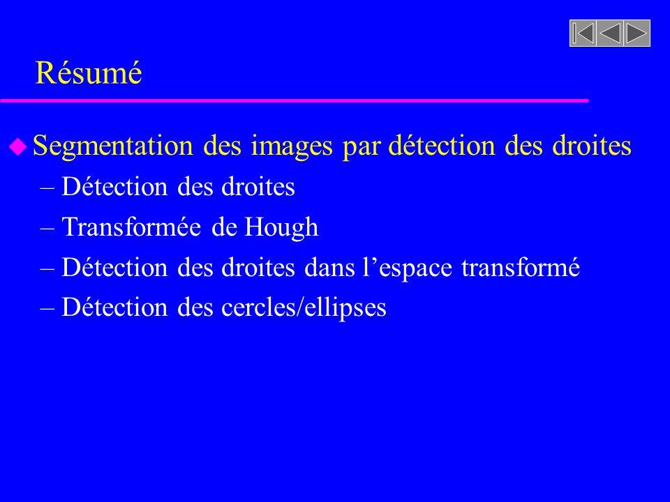 Résumé Segmentation des images par détection des droites