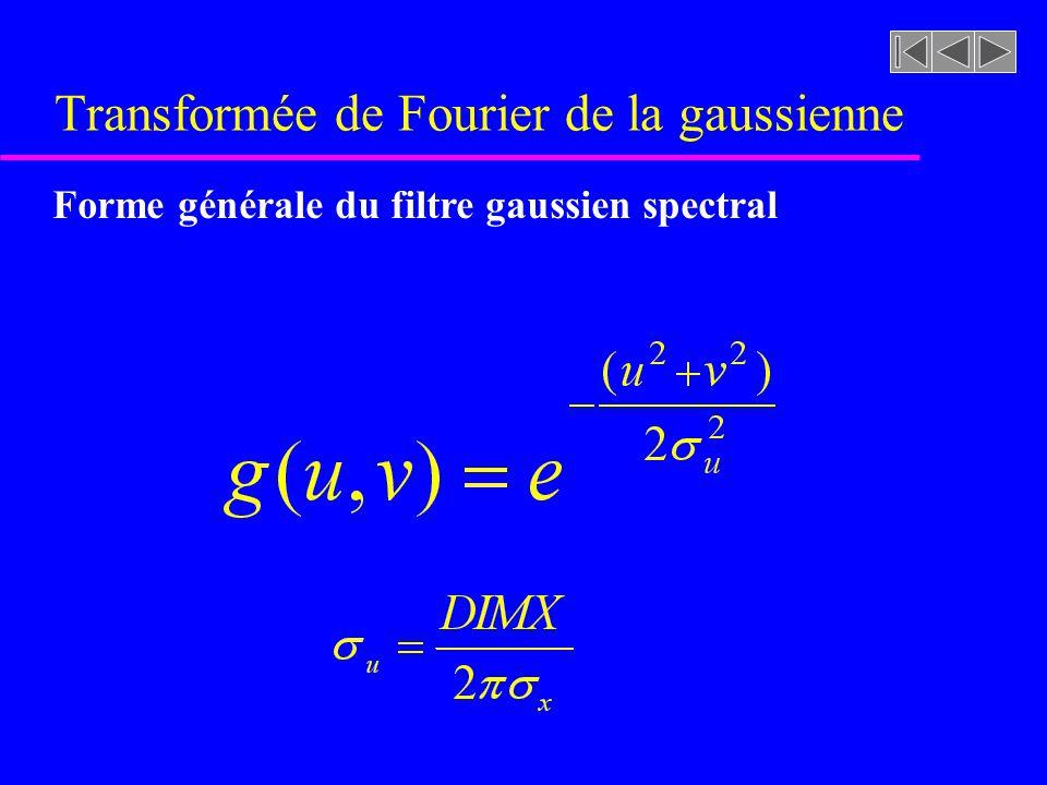 Transformée de Fourier de la gaussienne