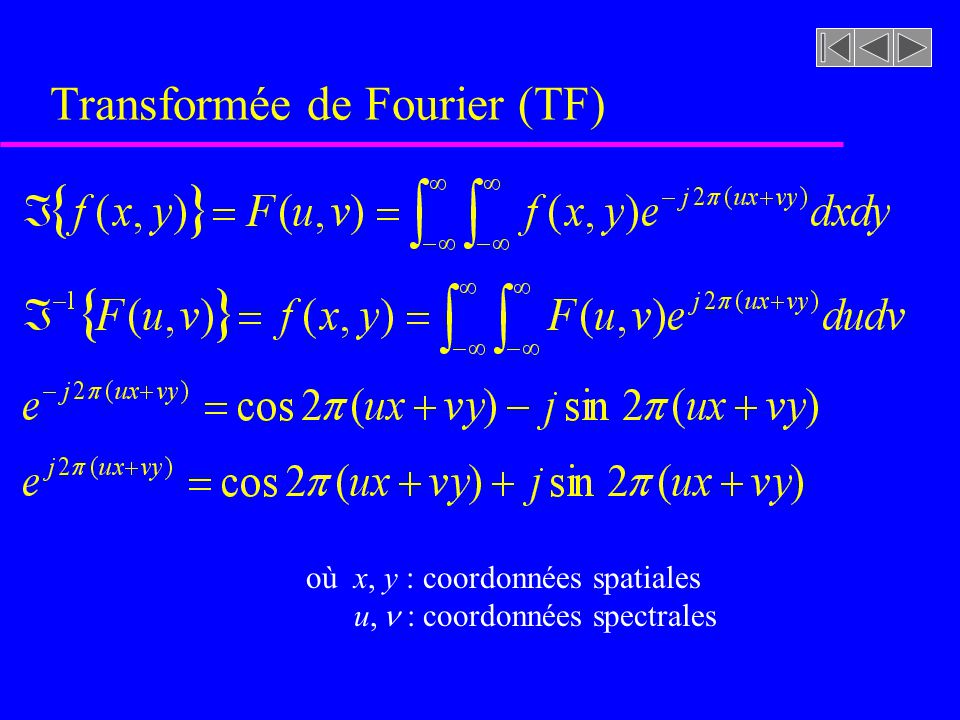 Transformée de Fourier (TF)
