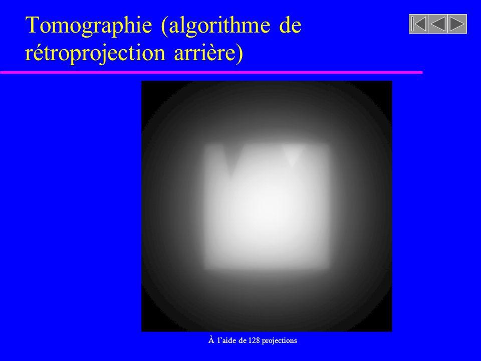 Tomographie (algorithme de rétroprojection arrière)