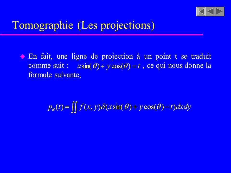 Tomographie (Les projections)