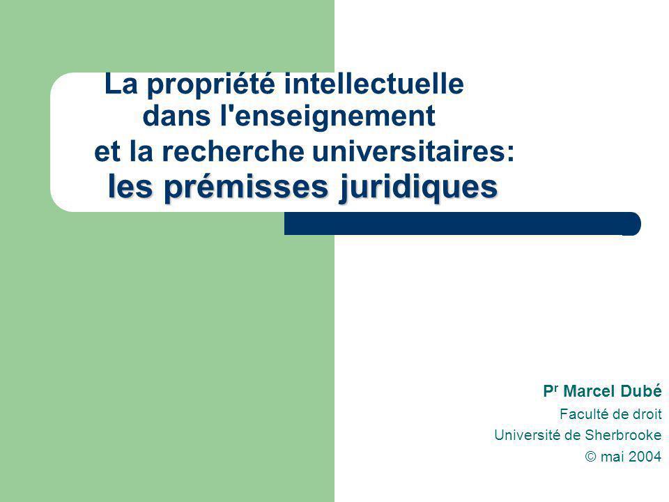 Pr Marcel Dubé Faculté de droit Université de Sherbrooke © mai 2004