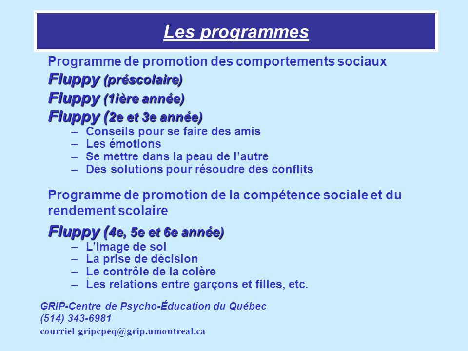 Les programmes Fluppy (préscolaire) Fluppy (1ière année)
