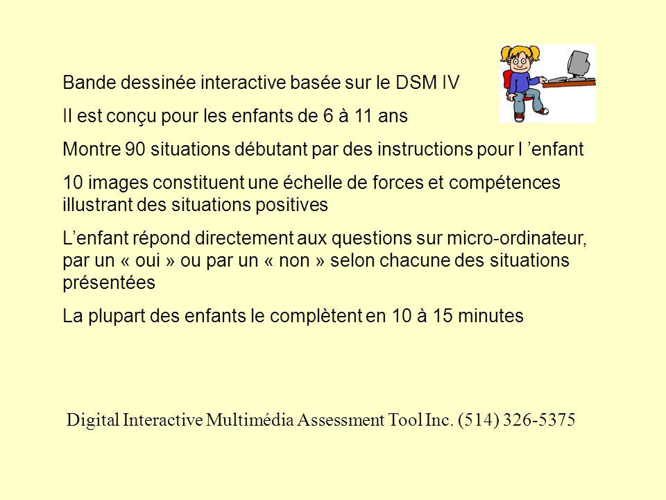 Bande dessinée interactive basée sur le DSM IV