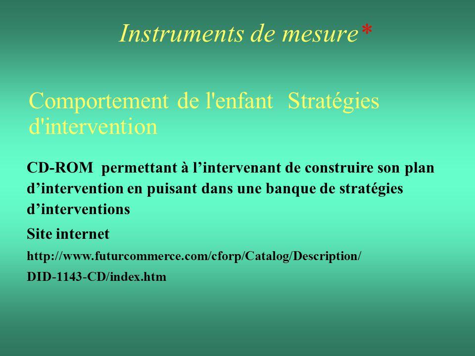Instruments de mesure*