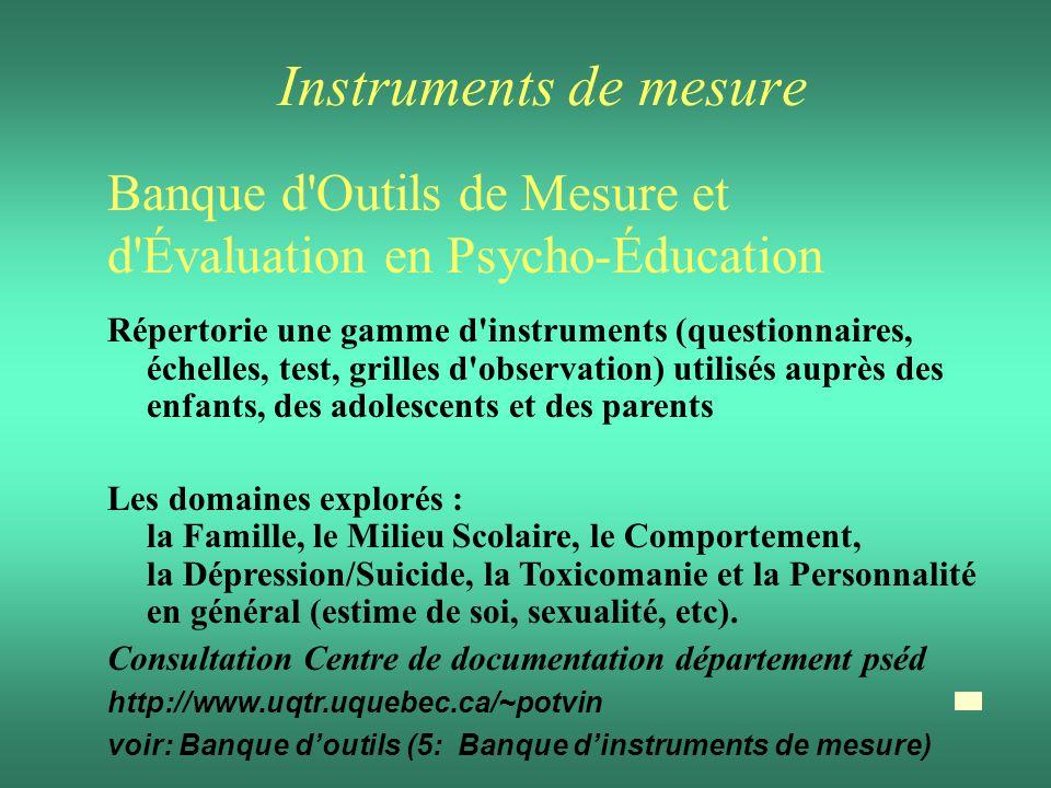 Instruments de mesure Banque d Outils de Mesure et