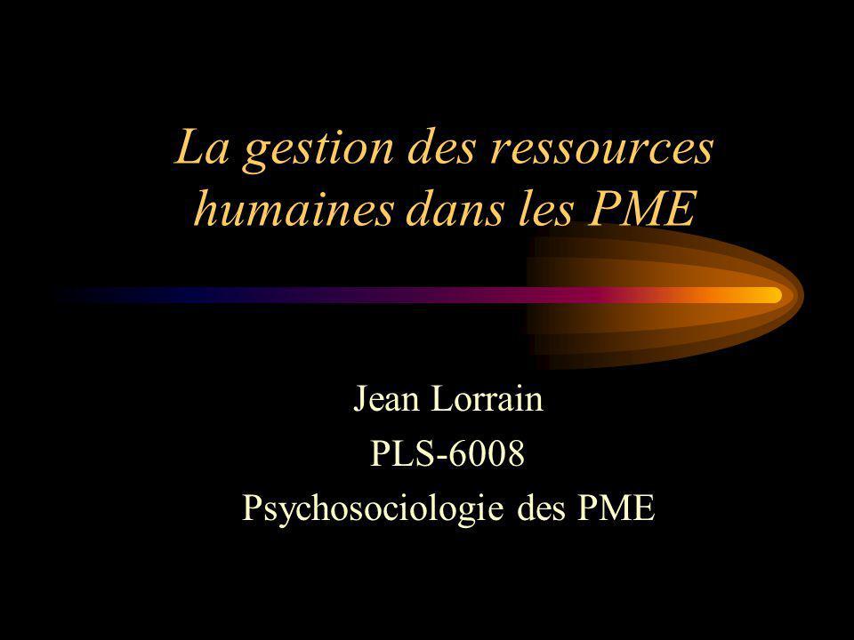 La gestion des ressources humaines dans les PME