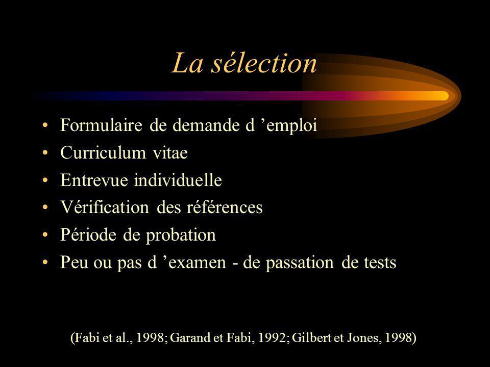 (Fabi et al., 1998; Garand et Fabi, 1992; Gilbert et Jones, 1998)