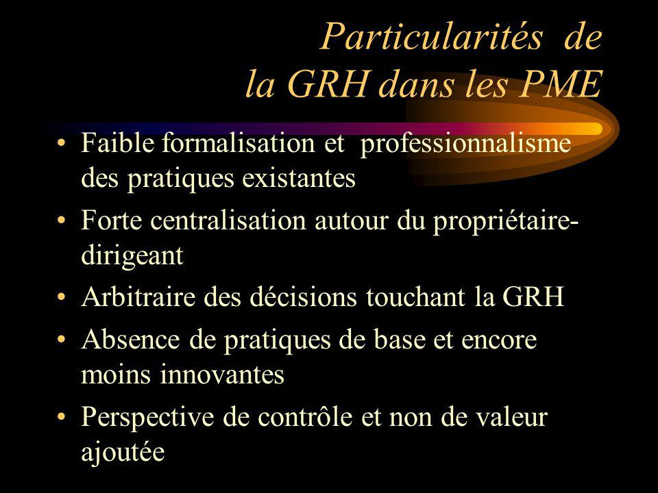 Particularités de la GRH dans les PME