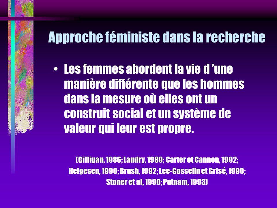 Approche féministe dans la recherche
