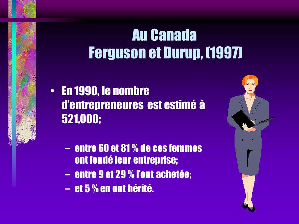 Au Canada Ferguson et Durup, (1997)