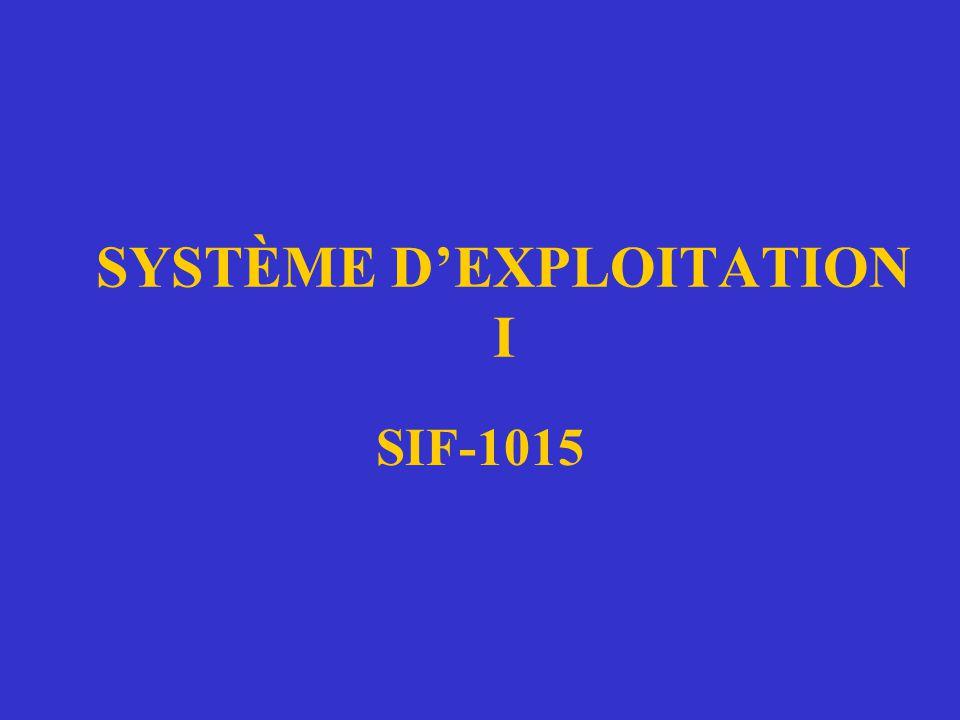 SYSTÈME D'EXPLOITATION I