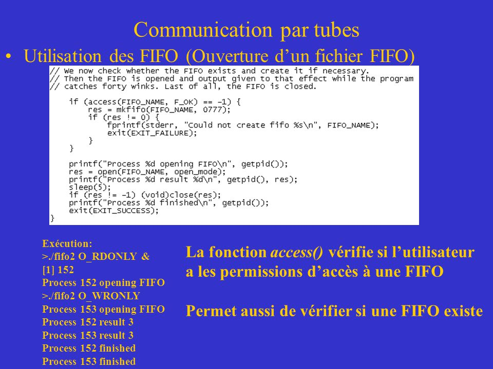 Communication par tubes