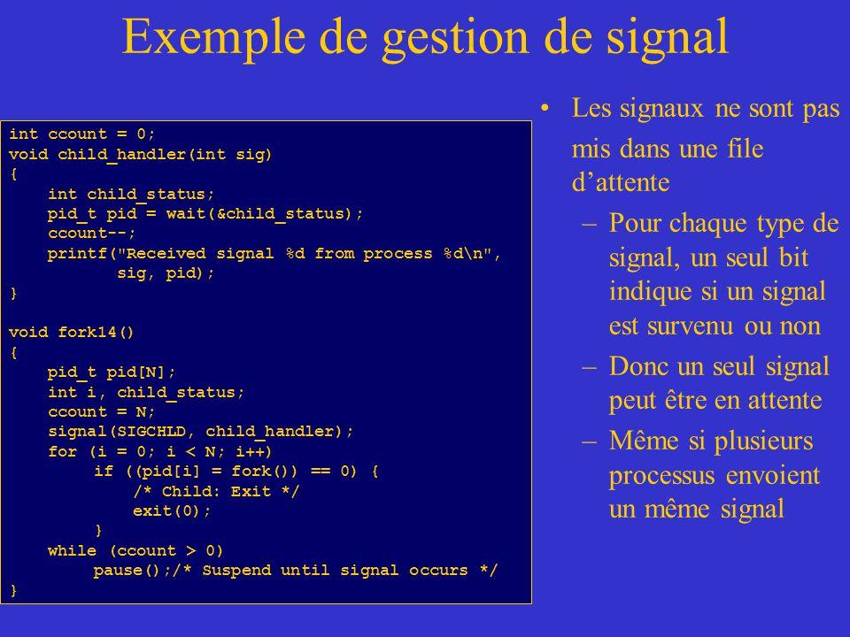 Exemple de gestion de signal