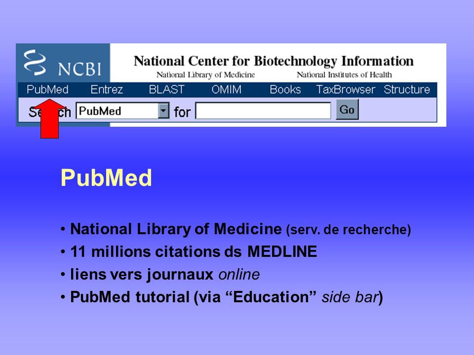 PubMed National Library of Medicine (serv. de recherche)