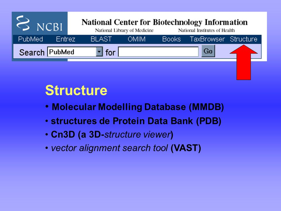 Structure Molecular Modelling Database (MMDB)
