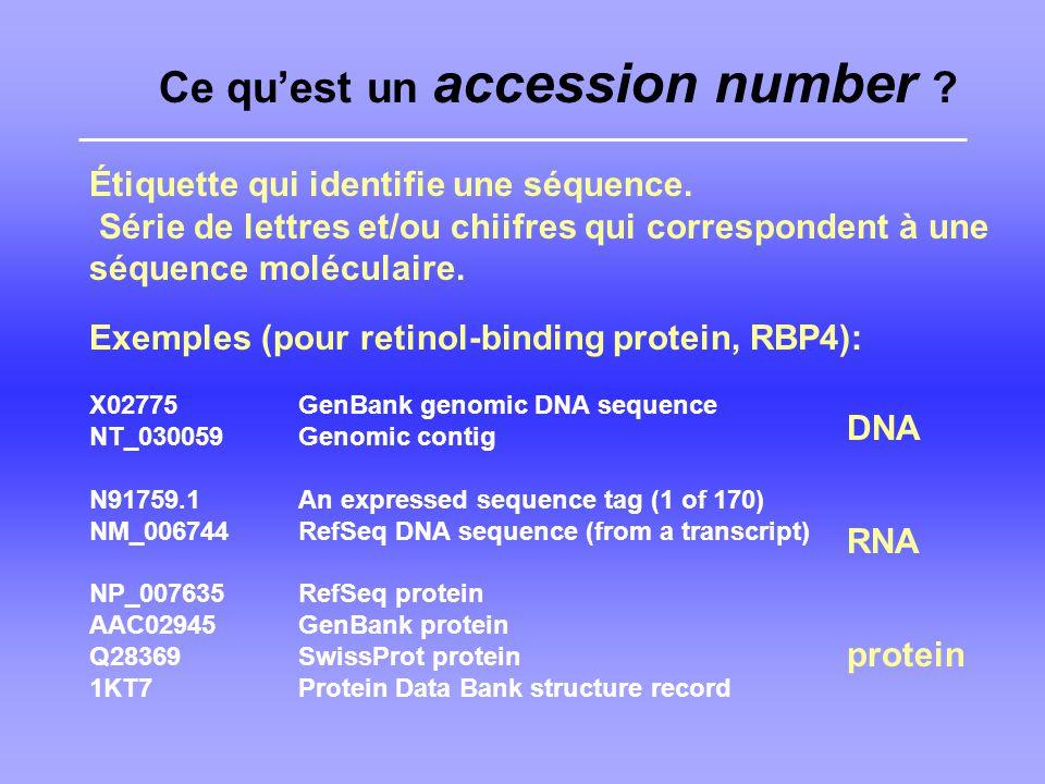 Ce qu'est un accession number
