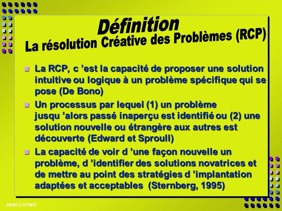 La résolution Créative des Problèmes (RCP)